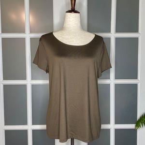 EUC Women's sz L 212 Collection Short Sleeve Top